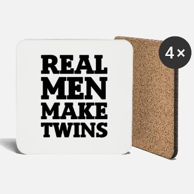 Identity Real Men make Twins gift - Coasters