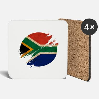 Durban South Africa blurred vintage circle / flag - Coasters