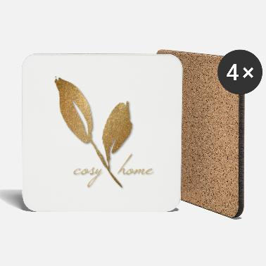 Gold Rush Cozy Home Gold - Coasters
