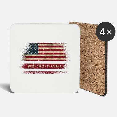 State USA vintage flags design / gift - Coasters