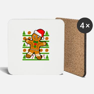 Frost Gingerbread man Christmas - Coasters