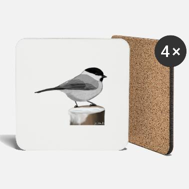 Official Painted willow tit bird animal design - Coasters