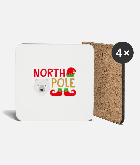 North Carolina Mugs & Drinkware - North Pole - Coasters white