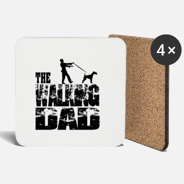 Series THE WALKING DAD #Zombie with terrier - Coasters