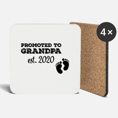 Pregnant Promoted to Grandpa Established 2020 Gift - Coasters