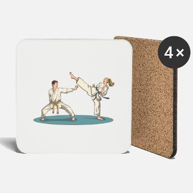 Krav Maga Karate kick and defense - Coasters