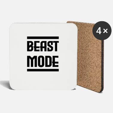 MODE BEAST | Fitness, gym, motivation, cadeau - Dessous de verre
