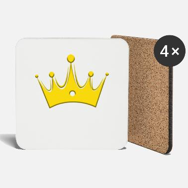 Luxury Crown Crowns King Queen JGA Wedding Bride - Coasters