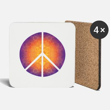Peace on Earth, trippy peace sign, hippie! - Coasters
