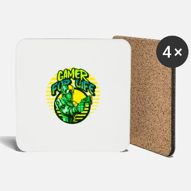 Ego Shooter Gamer for life gift - Coasters