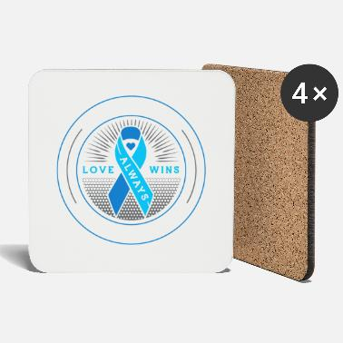 Awareness Her fight is my fight prostate cancer awareness - Coasters