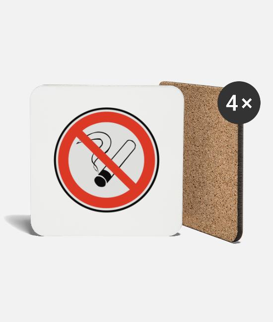 Restaurant Mugs & Drinkware - No smoking - Coasters white