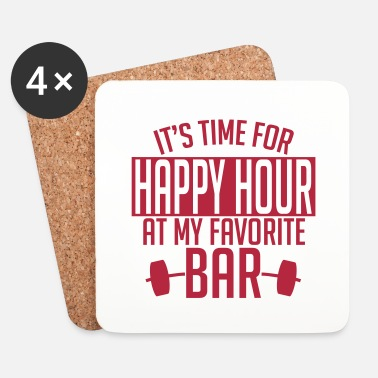 Training it's time for happy hour at my favorite bar A 1c - Dessous de verre (lot de 4)