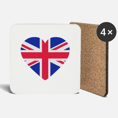 Jack Underwear Heart Britain - Coasters