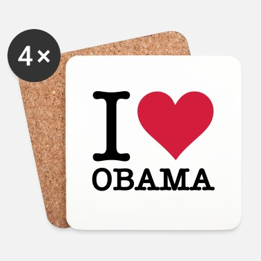 Obama Je aime Obama - Dessous de verre (lot de 4)