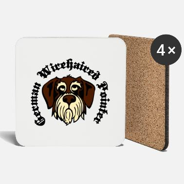 Gwp wirehaired_pointer_face_3c - Coasters
