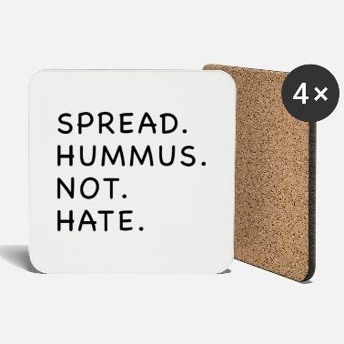 Funny vegan hate sayings environmental gift - Coasters