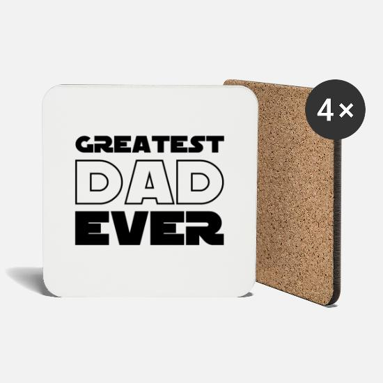 Gift Idea Mugs & Drinkware - Greatest Dad Ever - Best Dad forever - Coasters white