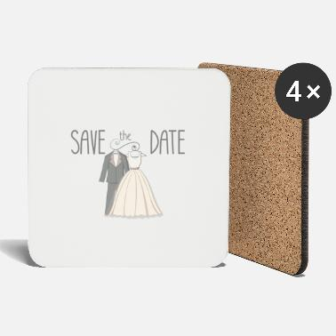 Date Of Birth save the date - Coasters