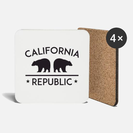 San Francisco Mugs & Drinkware - California Republic - Coasters white