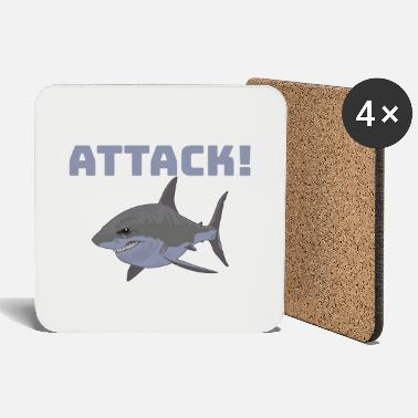 Attack ATTACK! shark - Coasters