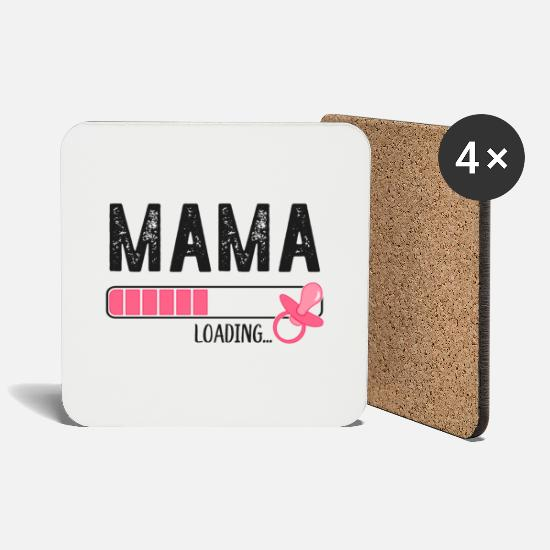 Offspring Mugs & Drinkware - Mama Loading 2020 Expectant mother pregnancy - Coasters white