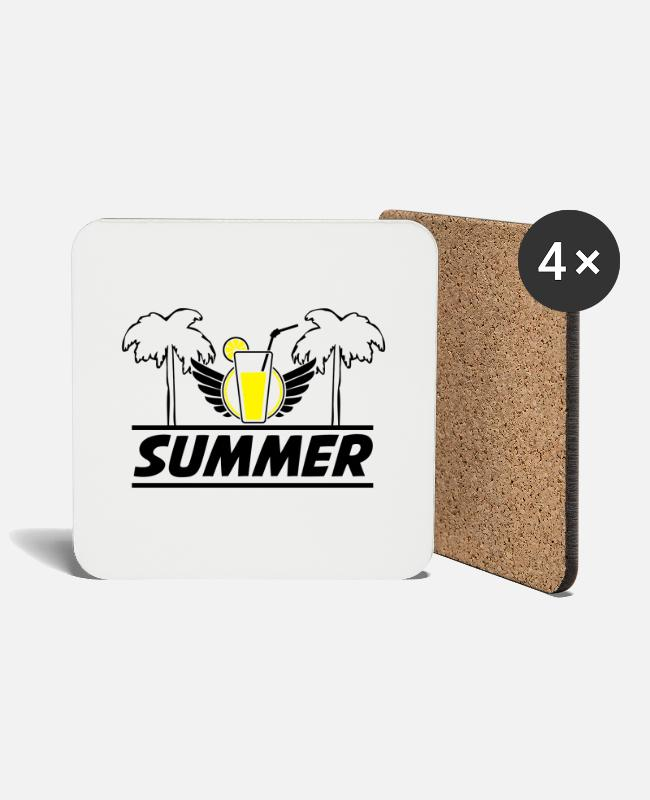 Holidays Mugs & Drinkware - summer_2 - Coasters white