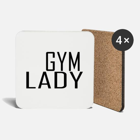 Love Mugs & Drinkware - Gym lady - Coasters white