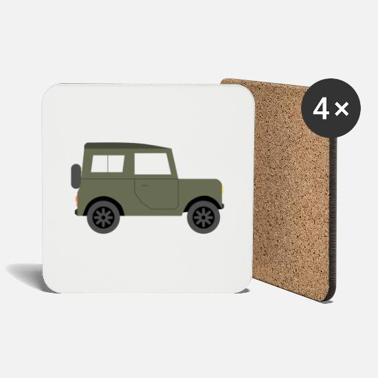 Forest Mugs & Drinkware - Outdoor SUV - Coasters white
