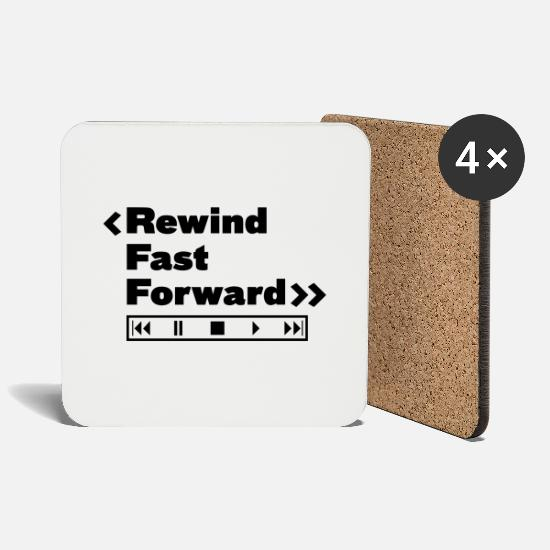 Singer Mugs & Drinkware - Rewind Fast Forward Music - Coasters white