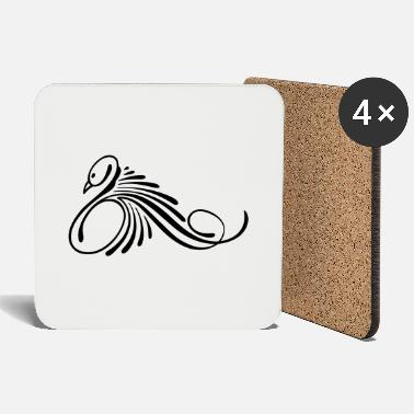 Swan tattoo for women to print - Coasters
