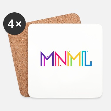 Minimum Minimal Type (Colorful) Typograhoy - MNML Design - Dessous de verre (lot de 4)