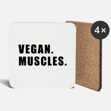 Gym Fitness Trainer Vegan Sport Workout Gift - Coasters