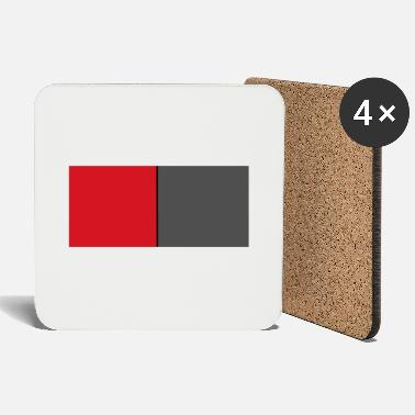 Octagon red grey - Coasters