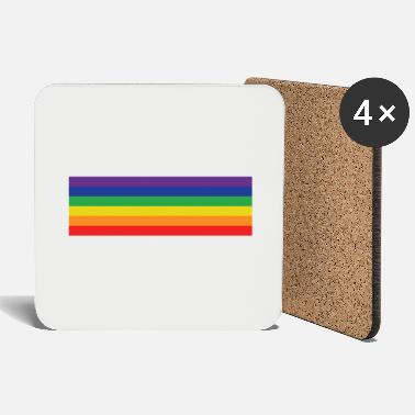 Rainbow Rainbow flag - Coasters
