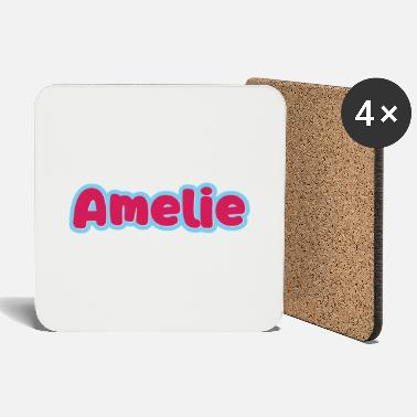 First Name Amelie name first name - Coasters