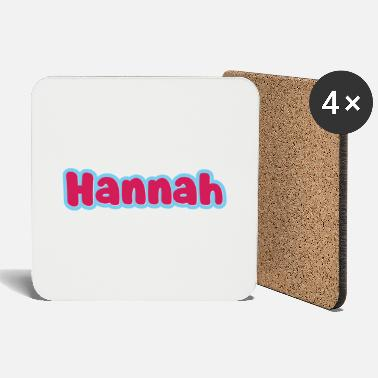 First Name Hannah name first name - Coasters