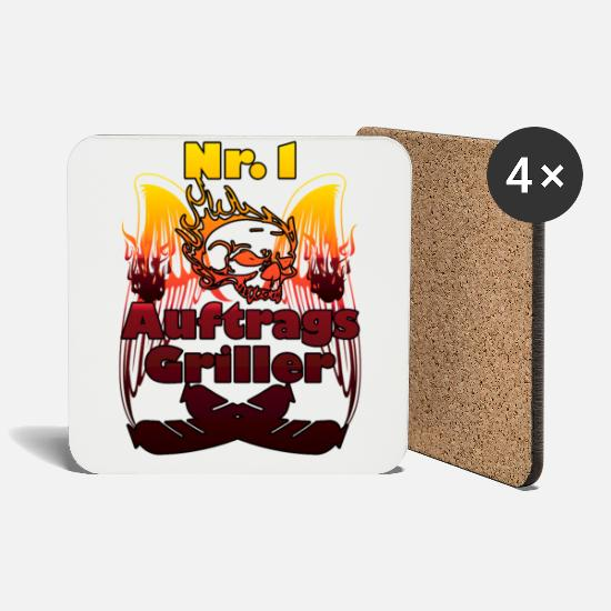 Gift Idea Mugs & Drinkware - On behalf of the grill - Coasters white