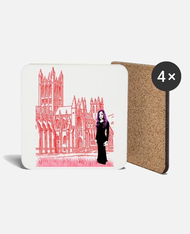 Ghastly Mugs & Drinkware - Gothic Edition - Coasters white