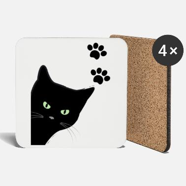 kitty's green eyes cat - Coasters