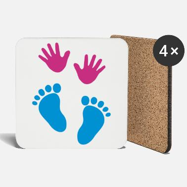 Feet Baby hands and feet - Coasters