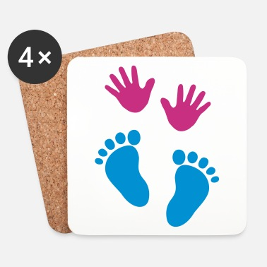 Baby Baby hands and feet - Brikker (sett med 4)