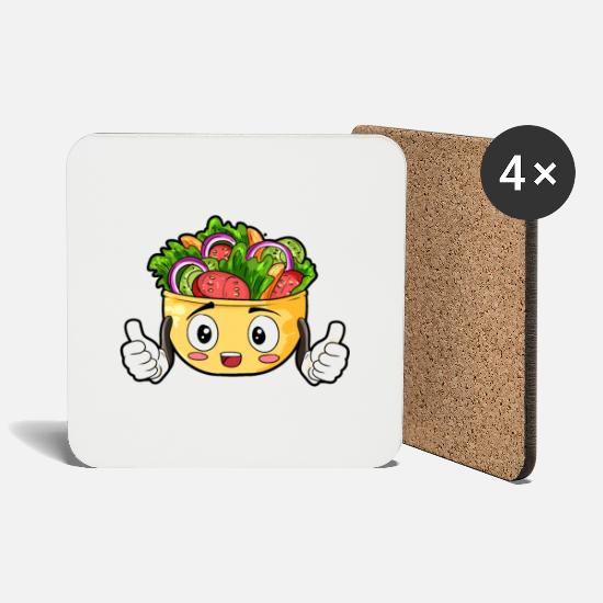 Gift Idea Mugs & Drinkware - Salad food gourmet gift - Coasters white