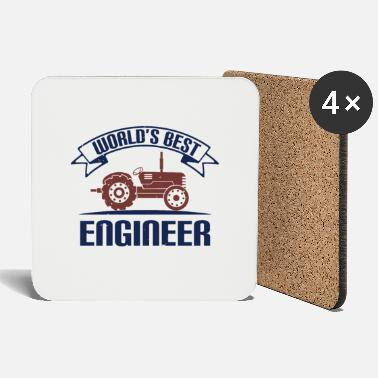 Mechanic Best Ingenieru - saying tractor - Coasters