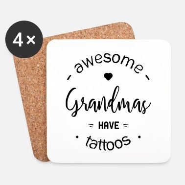 Tatoo Awesome grandmas tattoos - Dessous de verre (lot de 4)