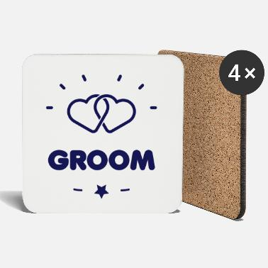 Couples &amp GROOM + HEART - Coasters