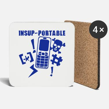 Mobile Phone unbearable mobile phone phone - Coasters