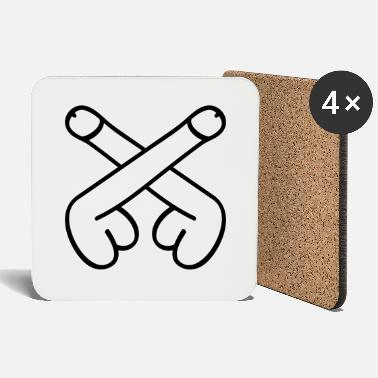 Dick dicks symbol - Coasters