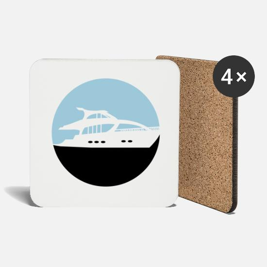 Sailboat Mugs & Drinkware - yacht - Coasters white