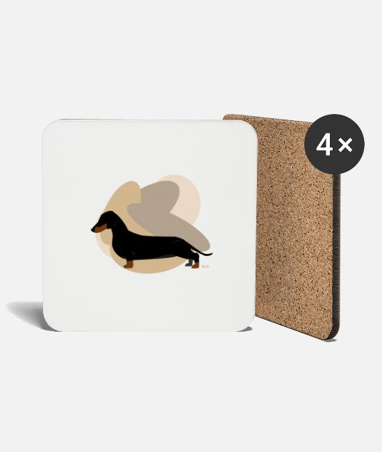 Dachshund Mugs & Drinkware - Dogs Collection by IxCÖ #Daschund - Coasters white